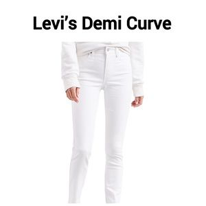 Levi's White Modern Rise Skinny Jeans Sz29